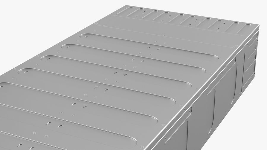 HPE Cloudline CL5200 Server Opened with Disks royalty-free 3d model - Preview no. 24