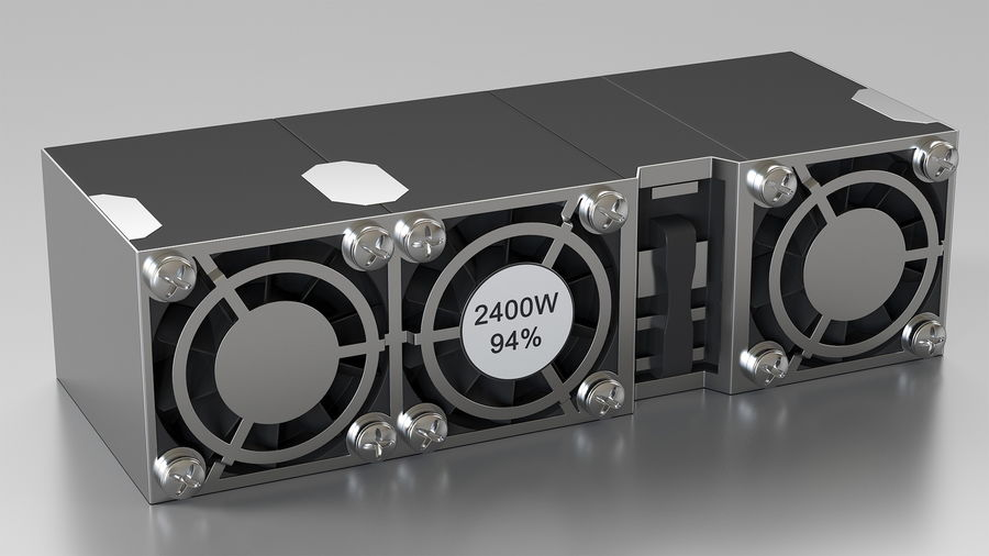 HPE Cloudline CL5200 Server Opened with Disks royalty-free 3d model - Preview no. 15