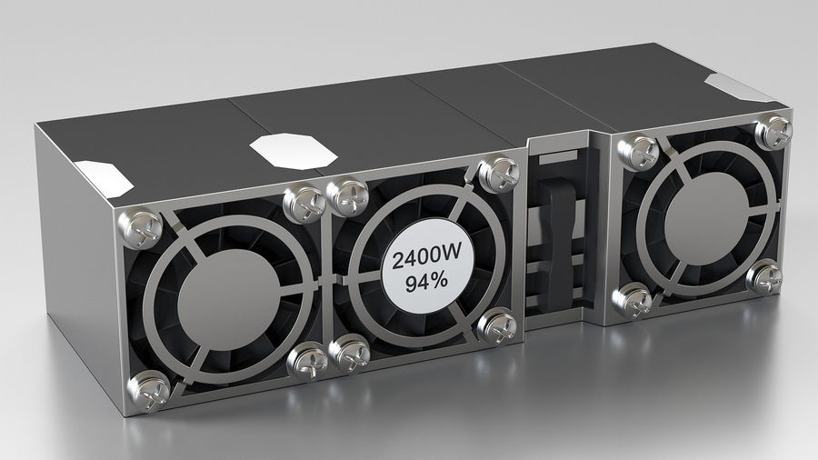 HPE Cloudline CL5200 Server with HDD Rigged royalty-free 3d model - Preview no. 23