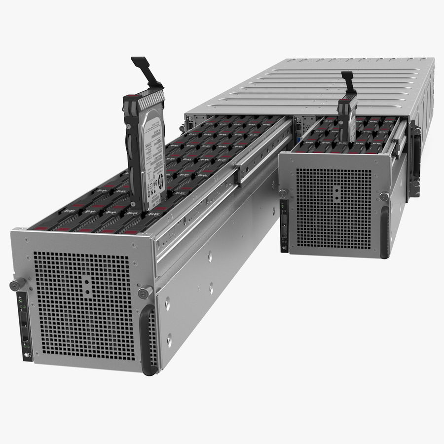 HPE Cloudline CL5200 Server with HDD Rigged royalty-free 3d model - Preview no. 1