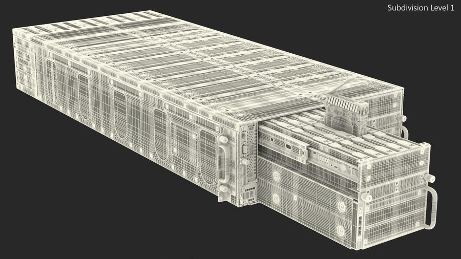 HPE Cloudline CL5200 Server with HDD Rigged royalty-free 3d model - Preview no. 36