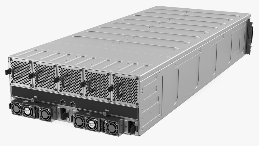 HPE Cloudline CL5200 Server with HDD Rigged royalty-free 3d model - Preview no. 20