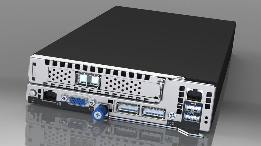 HPE Cloudline CL5200 Server with HDD Rigged royalty-free 3d model - Preview no. 33