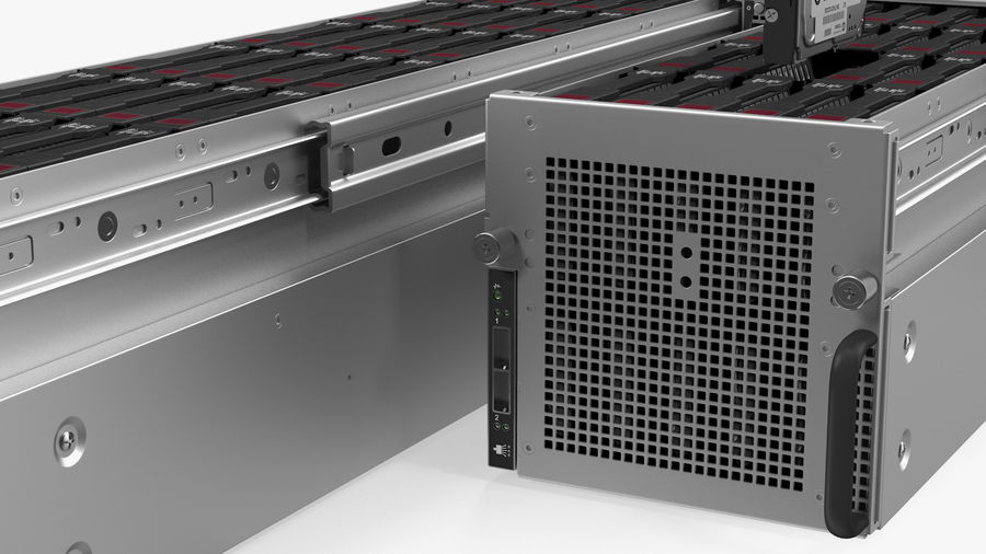 HPE Cloudline CL5200 Server with HDD Rigged royalty-free 3d model - Preview no. 30