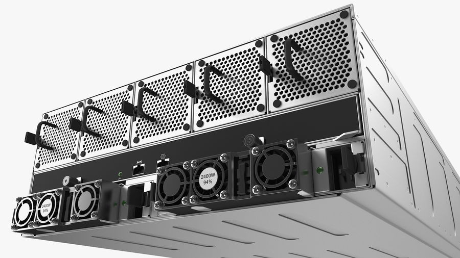 HPE Cloudline CL5200 Server with HDD Rigged royalty-free 3d model - Preview no. 21