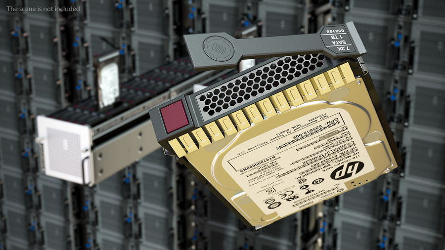 HPE Cloudline CL5200 Server with HDD Rigged royalty-free 3d model - Preview no. 10