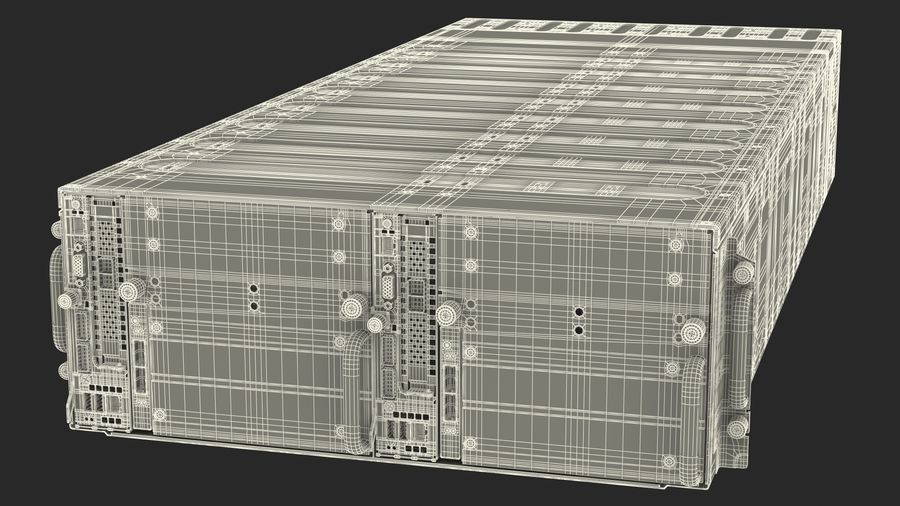 HPE Cloudline CL5200 Server with HDD Rigged royalty-free 3d model - Preview no. 42