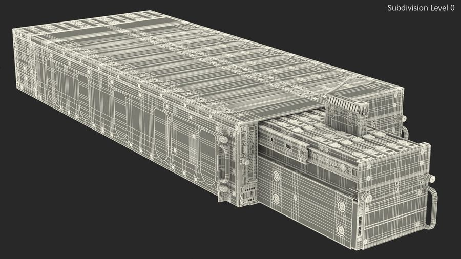 HPE Cloudline CL5200 Server with HDD Rigged royalty-free 3d model - Preview no. 35