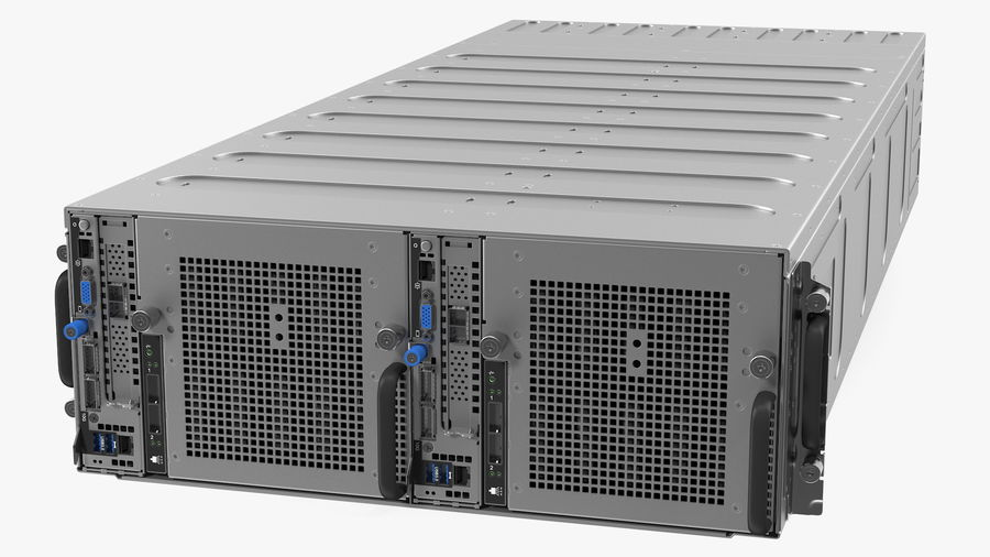 HPE Cloudline CL5200 Server with HDD Rigged royalty-free 3d model - Preview no. 14