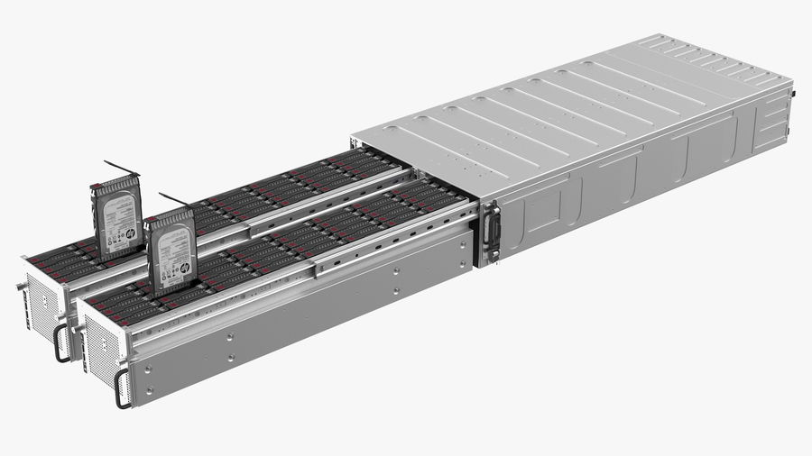 HPE Cloudline CL5200 Server with HDD Rigged royalty-free 3d model - Preview no. 18