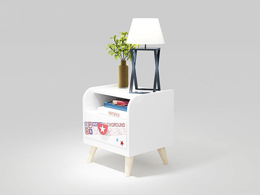 ベッドサイドキャビネット1 royalty-free 3d model - Preview no. 1