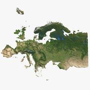 Mapa 3D Europy 3d model