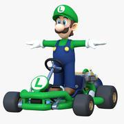 Mario Kart Tour - Luigi Pipe Frame 3d model