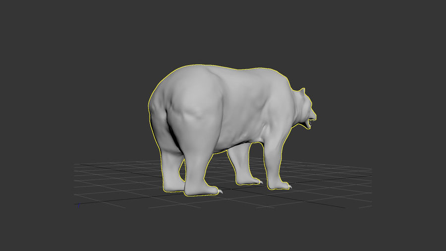 Bear No Fur royalty-free 3d model - Preview no. 18