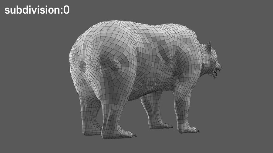 Bear No Fur royalty-free 3d model - Preview no. 19