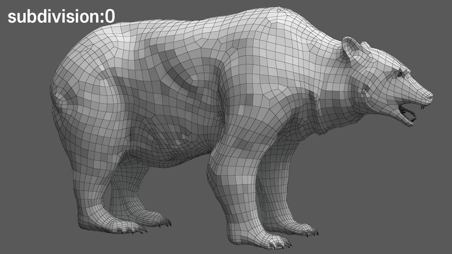Bear No Fur royalty-free 3d model - Preview no. 20