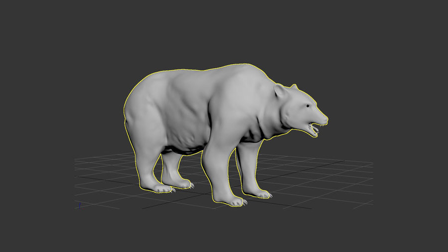 Bear No Fur royalty-free 3d model - Preview no. 17