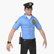 Guardia de seguridad modelo 3d