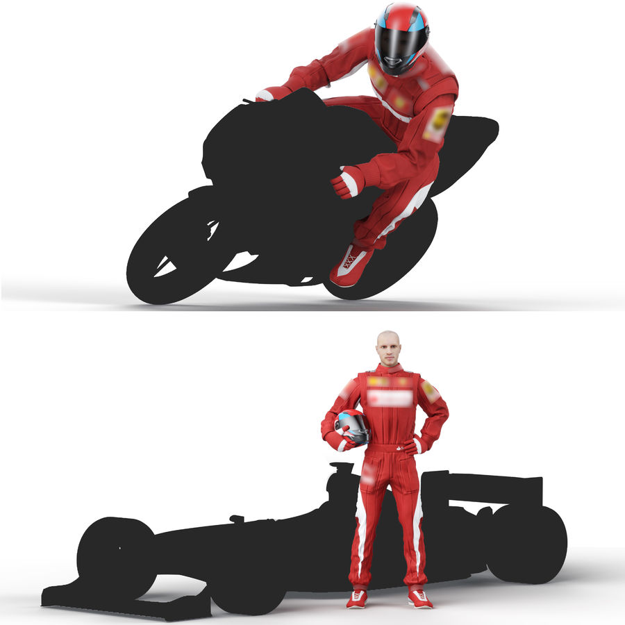 Racer royalty-free 3d model - Preview no. 6