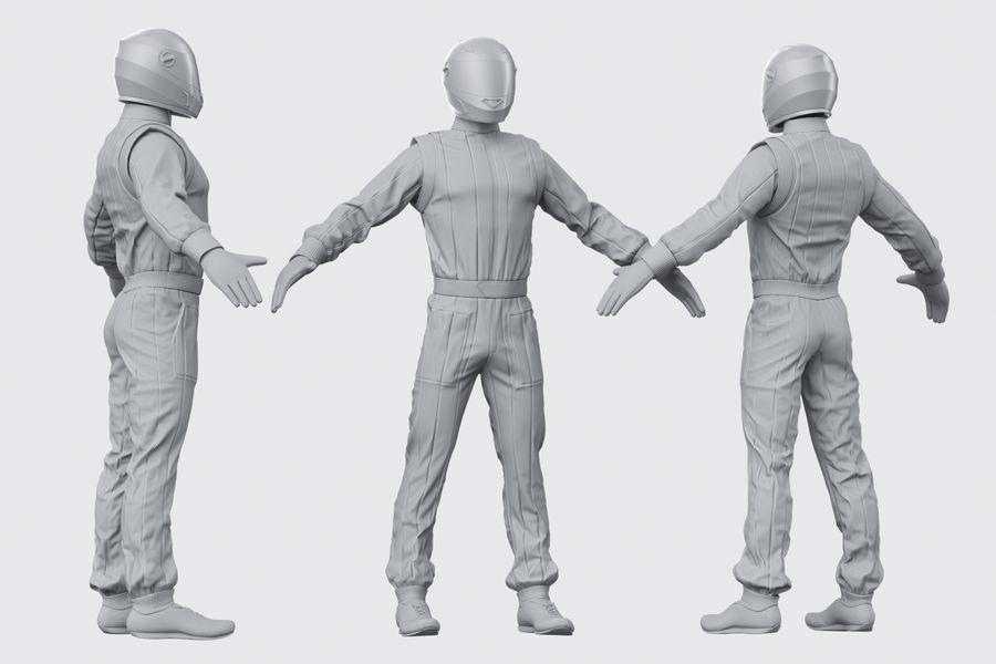 Racer royalty-free 3d model - Preview no. 8