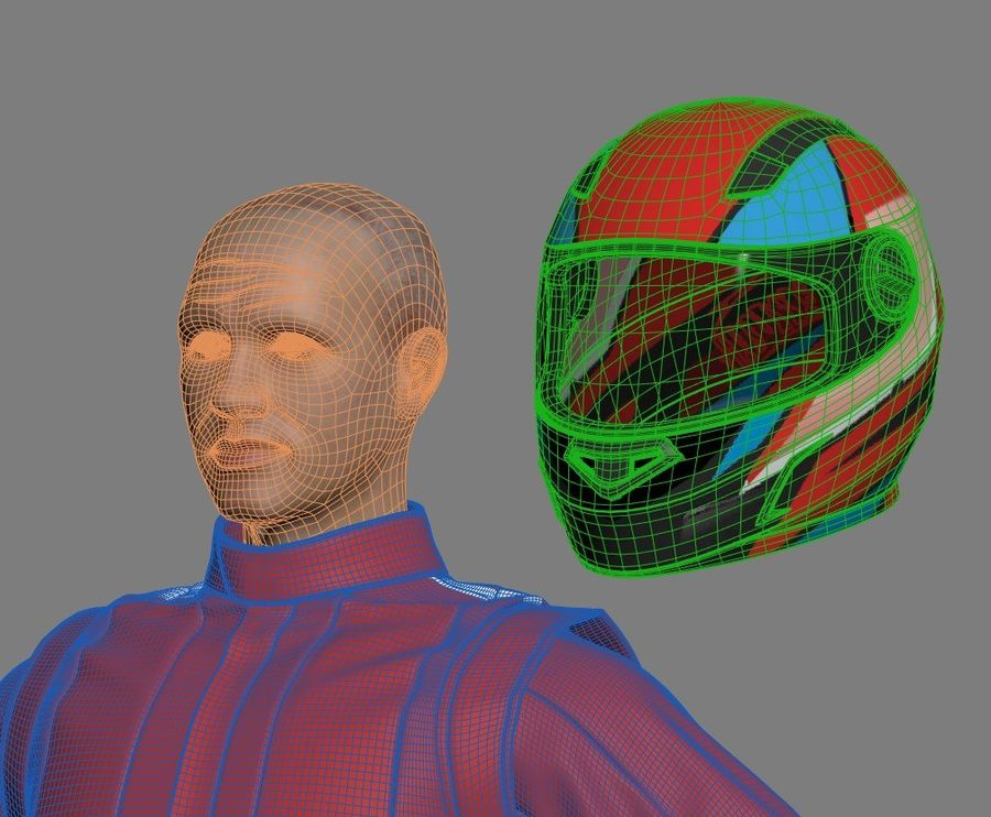 Racer royalty-free 3d model - Preview no. 11
