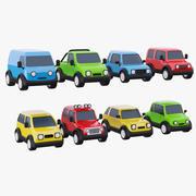 玩具车套装 3d model