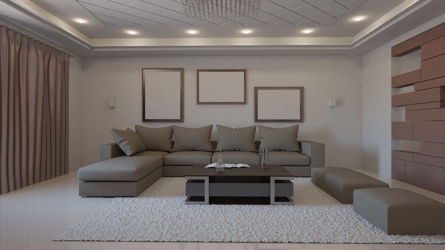 Modernes Interieur royalty-free 3d model - Preview no. 3