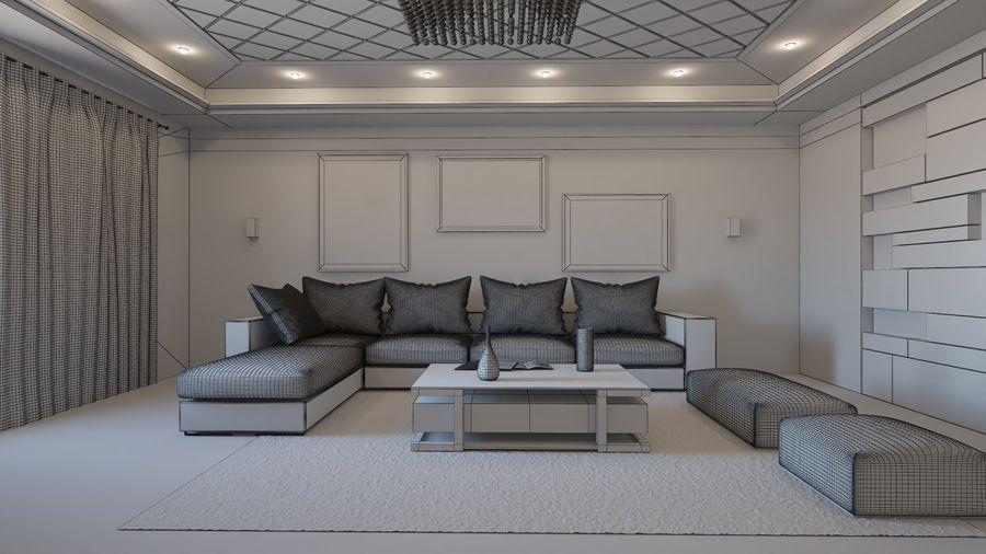 Modernes Interieur royalty-free 3d model - Preview no. 9