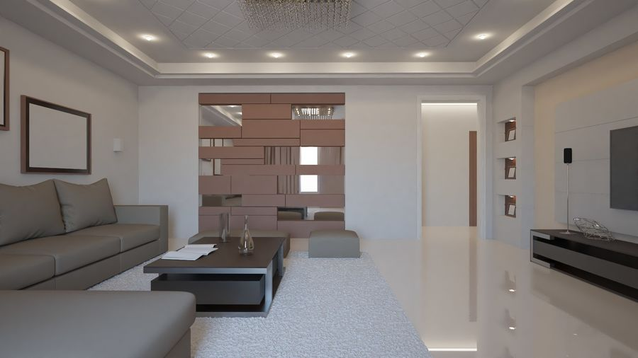 Modernes Interieur royalty-free 3d model - Preview no. 4