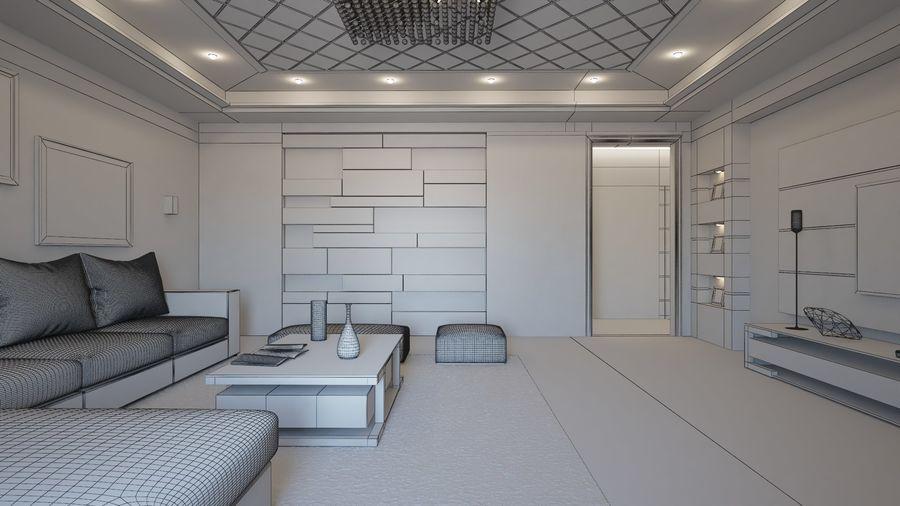 Modernes Interieur royalty-free 3d model - Preview no. 10