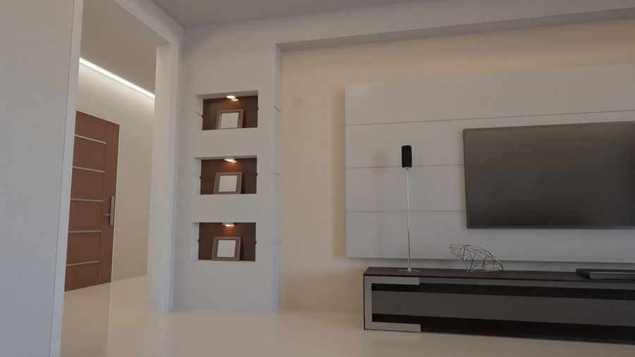 Modernes Interieur royalty-free 3d model - Preview no. 6