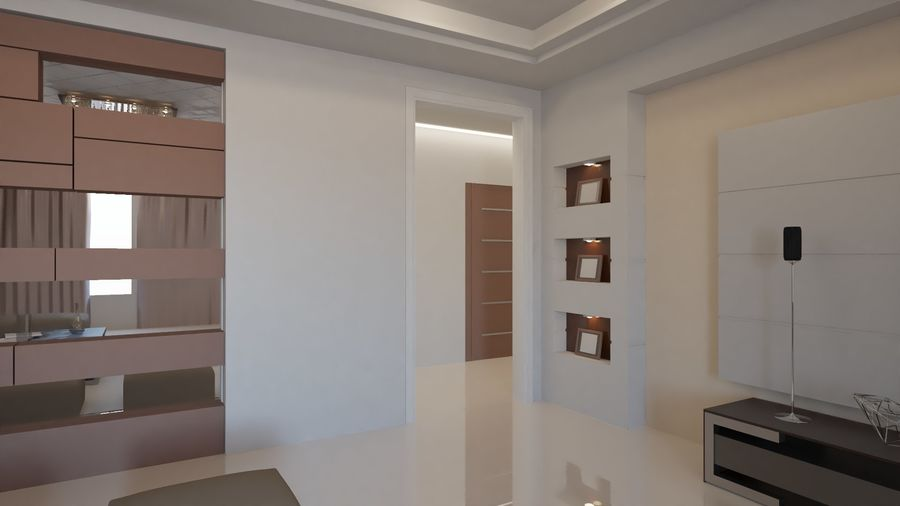 Modernes Interieur royalty-free 3d model - Preview no. 25