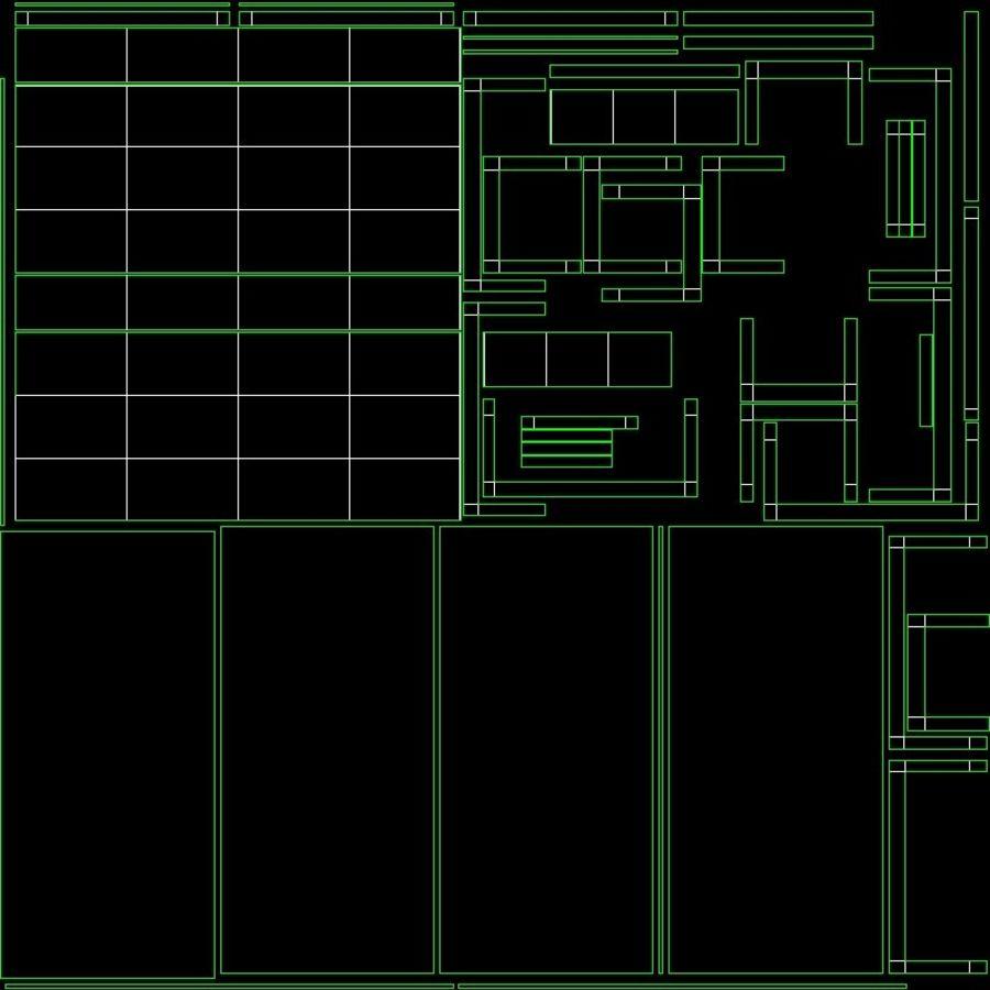 Modernes Interieur royalty-free 3d model - Preview no. 11