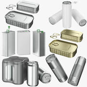 Collection Aluminum Cans 01 3d model