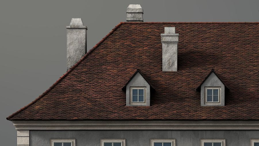 Neoclassical Building royalty-free 3d model - Preview no. 3
