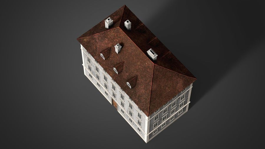 Neoclassical Building royalty-free 3d model - Preview no. 13