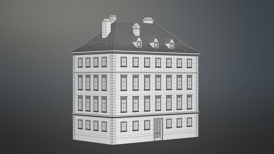 Neoclassical Building royalty-free 3d model - Preview no. 25