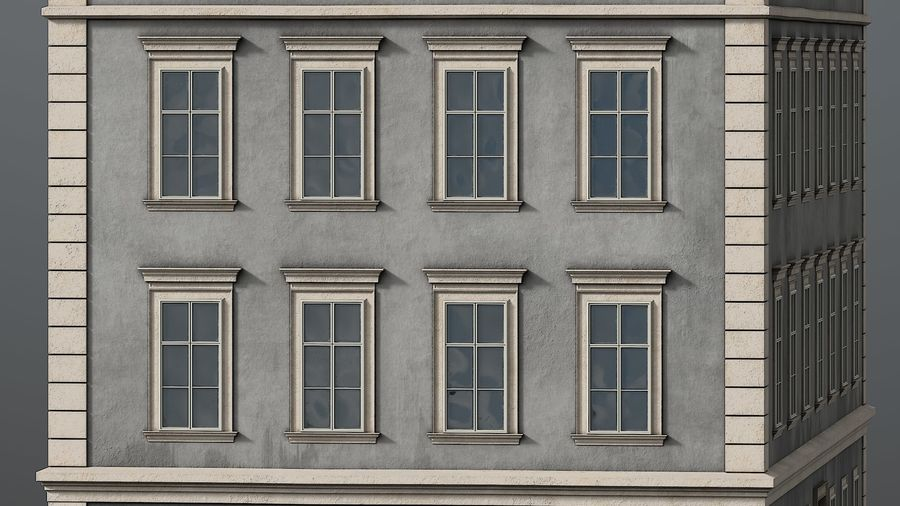 Neoclassical Building royalty-free 3d model - Preview no. 6