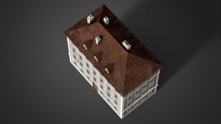 Neoclassical Building royalty-free 3d model - Preview no. 14