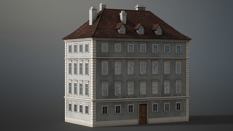 Neoclassical Building royalty-free 3d model - Preview no. 10