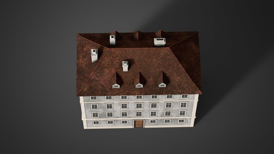 Neoclassical Building royalty-free 3d model - Preview no. 12
