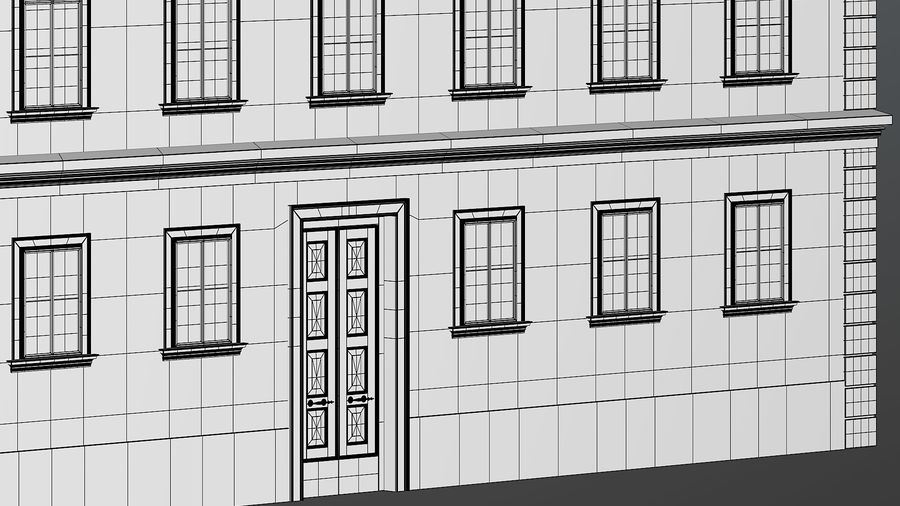 Neoclassical Building royalty-free 3d model - Preview no. 31
