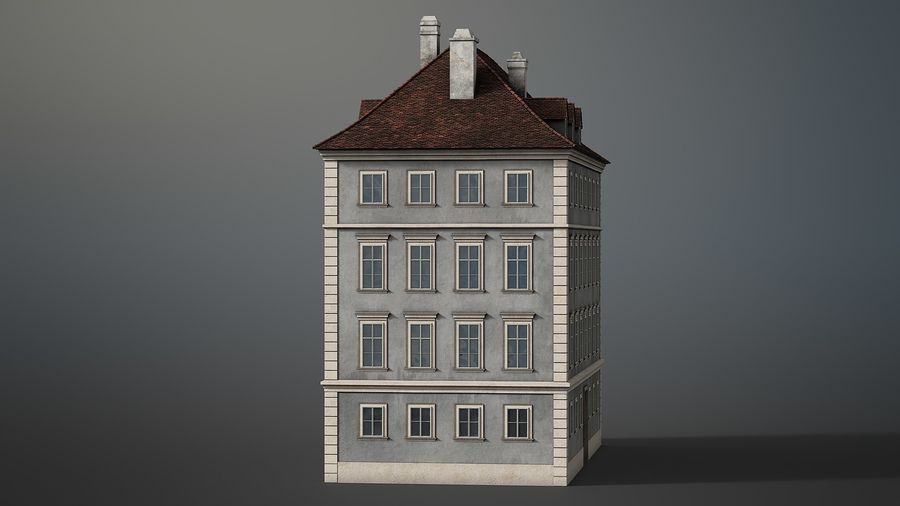 Neoclassical Building royalty-free 3d model - Preview no. 5