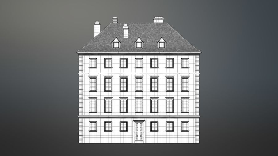 Neoclassical Building royalty-free 3d model - Preview no. 24