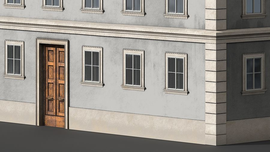 Neoclassical Building royalty-free 3d model - Preview no. 9