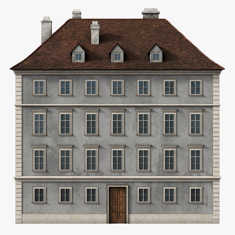 Neoclassical Building royalty-free 3d model - Preview no. 1