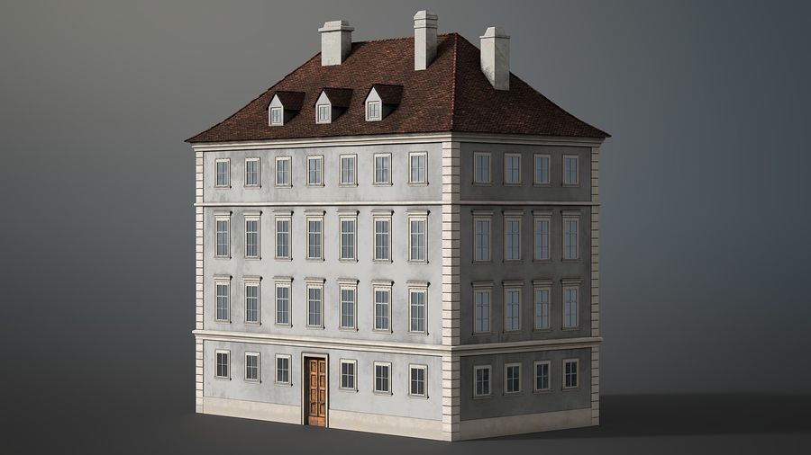 Neoclassical Building royalty-free 3d model - Preview no. 8