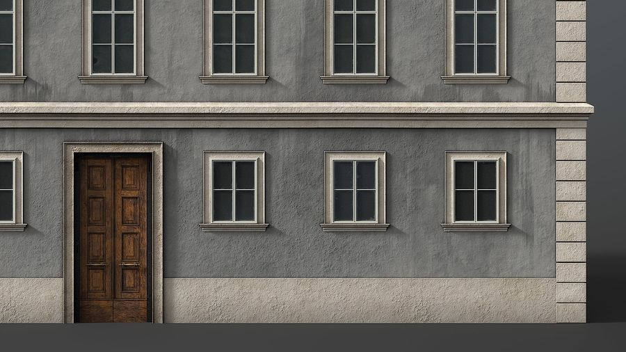 Neoclassical Building royalty-free 3d model - Preview no. 4