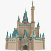 Castle (Disney Style) 3D Model 3d model