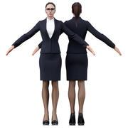 Mulher de negócios 3d model